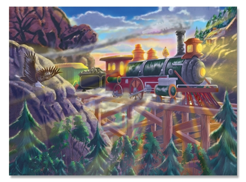 Eagle Canyon Railway Jigsaw Puzzle by Melissa and Doug