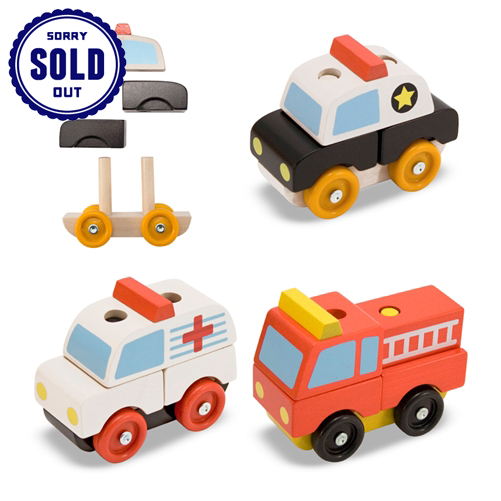 Stacking Emergency Vehicles by Melissa Doug