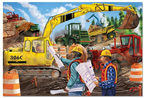Construction Floor Puzzle by Melissa Doug