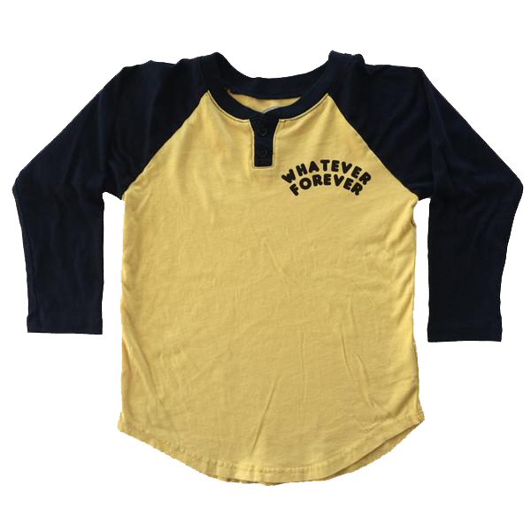 Boys' Whatever Raglan Henley by Tiny Whales (Size: 4)