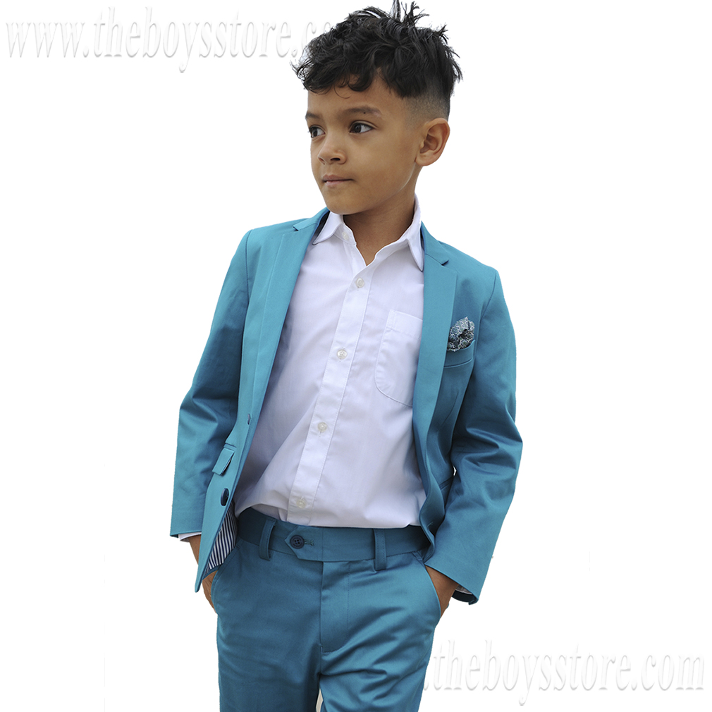 Boys' Mod Suit by Appaman * (Color: Teal, Size: 4T)