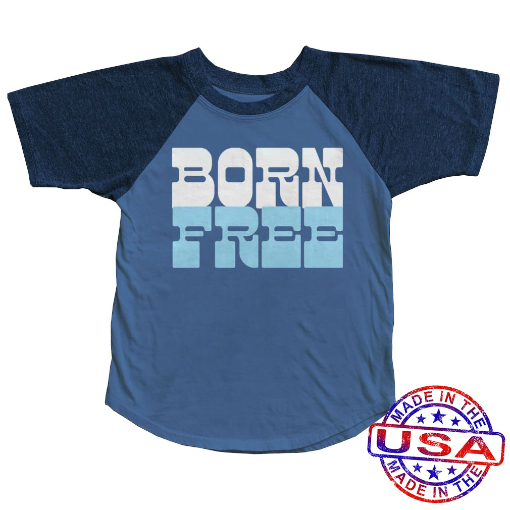 Boys' Born Free Raglan Tee by Tiny Whales (Size: 5)