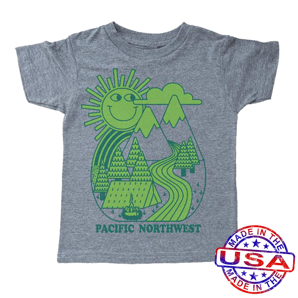 Boys' Pacific Northwest Shirt by Tiny Whales (Size: 3Y)