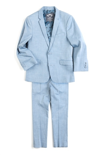 Boys' Mod Suit by Appaman * (Color: Chambray, Size: 2T)