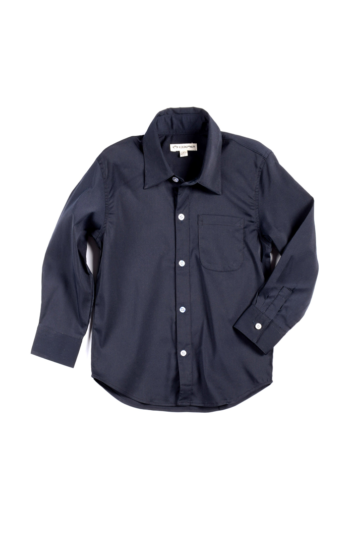 Boys' Standard Shirt by Appaman * (Color: Navy, Size: 5)