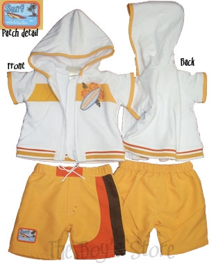Minibasix Boys' Swimsuit and Cover-Up Set (Size: 3 Months)