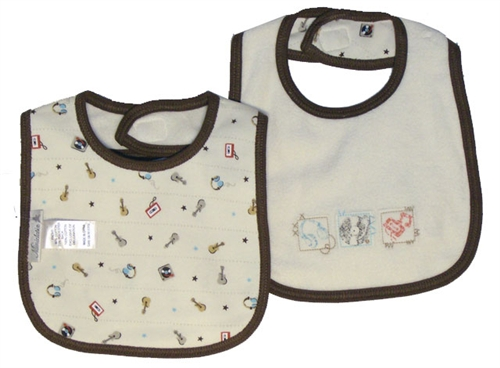 Minibasix Boys' Music Themed Bib (Size: 9 Months)