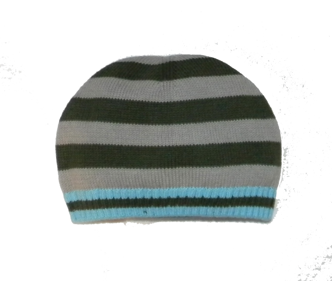Little Boys' Jet Striped Hat by Rabbit Moon (Size: X-Large (2 Years & up))