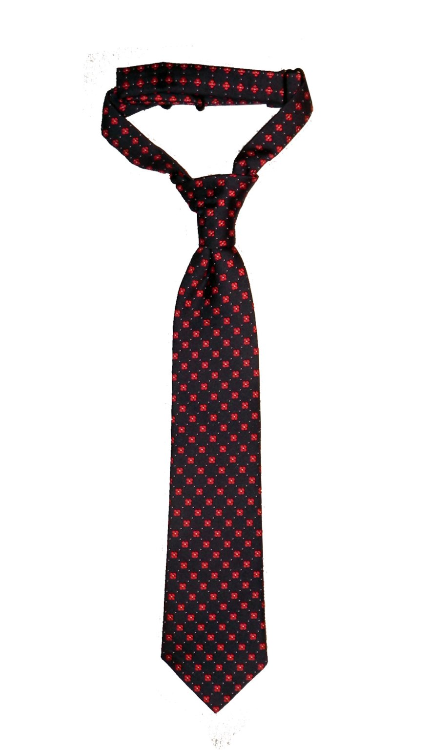 Handmade Pre-Tied Neckties for Boys by Troy James Boys (Size: Medium (1-3 yrs), Style: Red Flower)