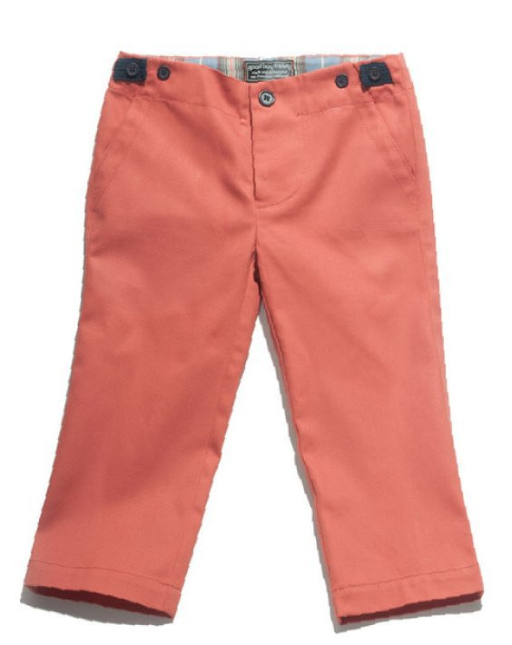 Boy's Lou Pant by Good Boy Friday (Color: Carrot, Size: 2T)