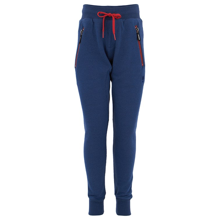 Munsterkids Boys' Navy & Red Zips Track Pants (Size: 6)