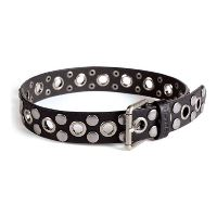 Leather Belt with Studs for Boys