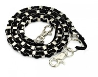 Leather and Silver Wallet Chain