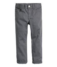Gray Twill Pants for Boys
