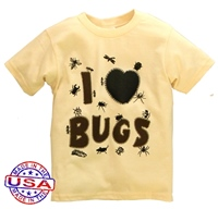 I Love Bugs Shirt for Boys