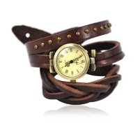 Boys Watch with Leather Wrap Band
