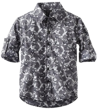 Floral patterned button-up shirt for boys