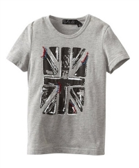 Boys T-Shirt with British Flag Graphic