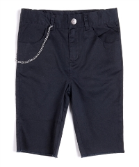 Black Punk Shorts for Boys