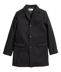 Dark Navy Wool Coat for Boys
