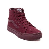 Boys Hi Top Vans in Burgundy