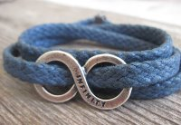 Boys Blue and Silver Wrap Bracelet