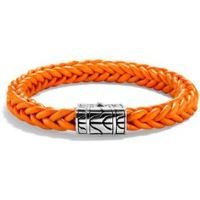 Orange Braided Bracelet for Boys