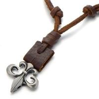 Fleur de Lys Necklace for Boys