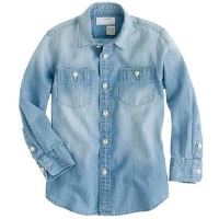 Chambray Dress Shirt for Boys