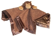 Monkey Tag-Along Blanket for Boys