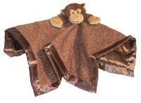 Monkey Tag-Along Blanket for Boys