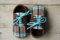 Plaid Baby Boy Shoes