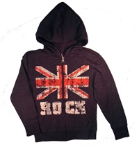 Brit Rock Zip-Up Hoodie for Boys
