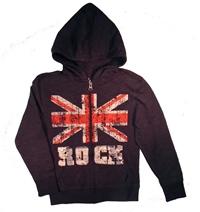 Brit Rock Zip-Up Hoodie for Boys