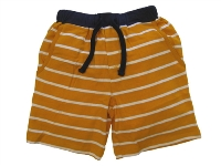 Orange and White Striped Boys Shorts