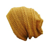 Boy's Slouch Beanie in Yellow