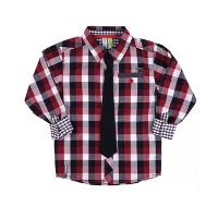 Boys Plaid Dress Shirt by Noruk