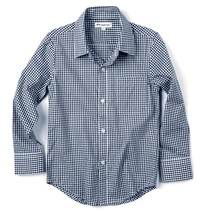 Blue Gingham Boys Dress Shirt by Appaman