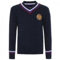 Boys Cable V-Neck Sweater