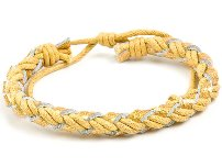 Boy's Braided Yellow Bracelet
