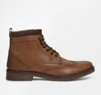 Boys Brown High Top Boots