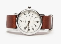 Boys Leather Band Watch
