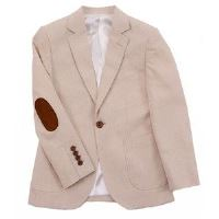 Boy's Blazer in Tan with Elbow Patches