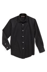 Boys Black Dress Shirt