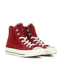 Red Suede Boys High Tops