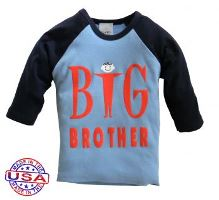 Big Brother Raglan Shirt for Boys