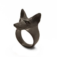 Fox Head Ring for Boys