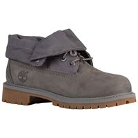 Boy's gray roll top boots