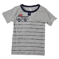 Boy's Graphic Henley Tee by Wes and Willy
