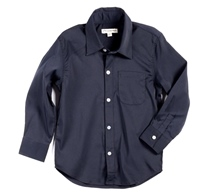 Boys Black Standard Shirt by Appaman